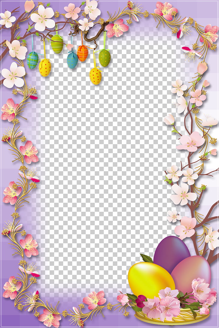 Easter Bunny Easter egg Egg hunt, Easter Egg Border PNG.