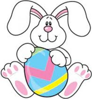 clipart easter bunny exercising image #4