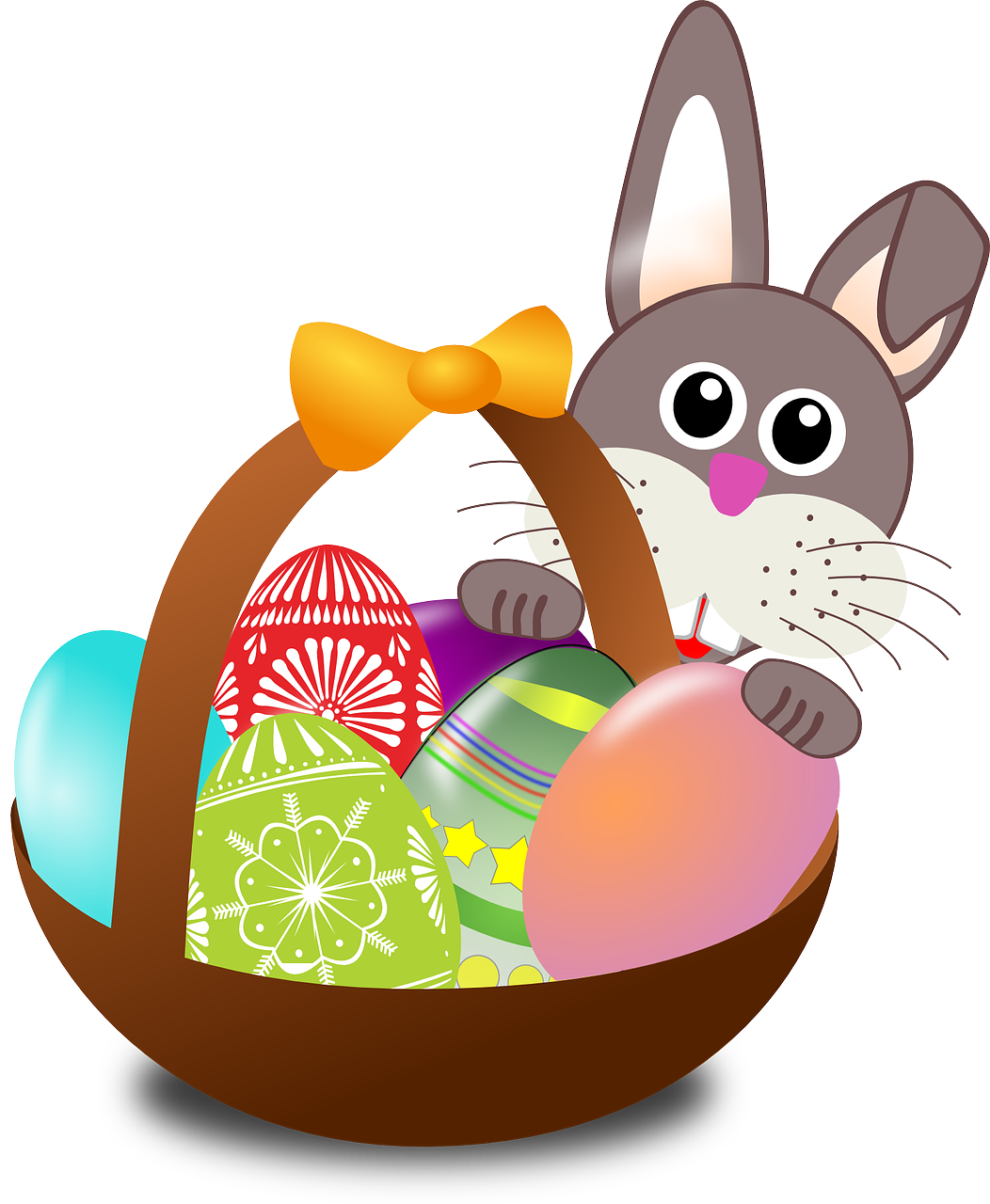 clipart easter bunny exercising image clipground