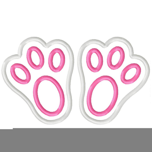Easter Bunny Feet Clipart.