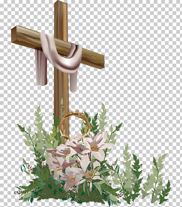Easter Cross Blessing Church , Christian Easter File, brown.