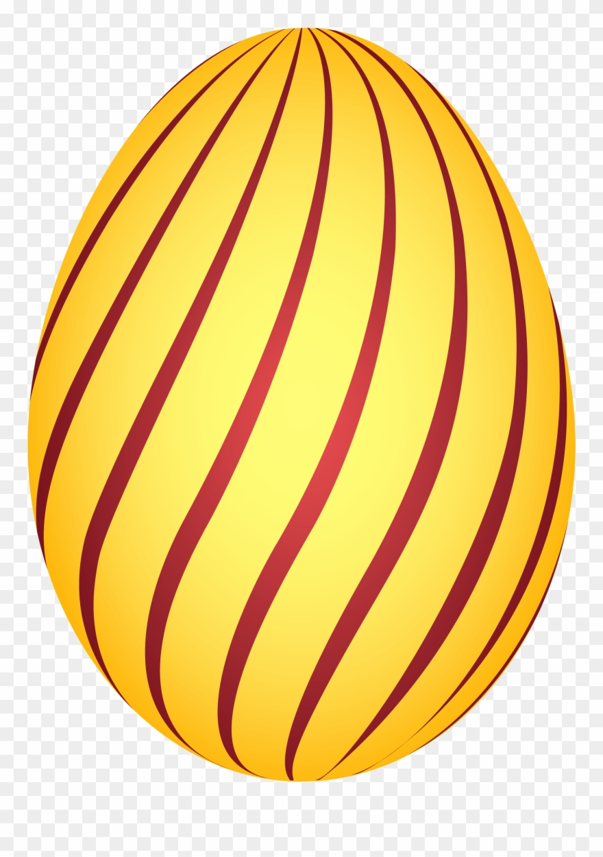 Orange Clipart Easter Eggs.