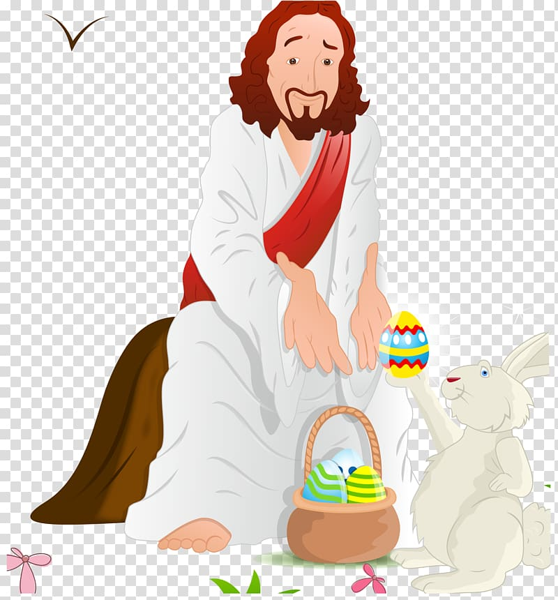 Easter Bunny Resurrection of Jesus Illustration, Jesus and.