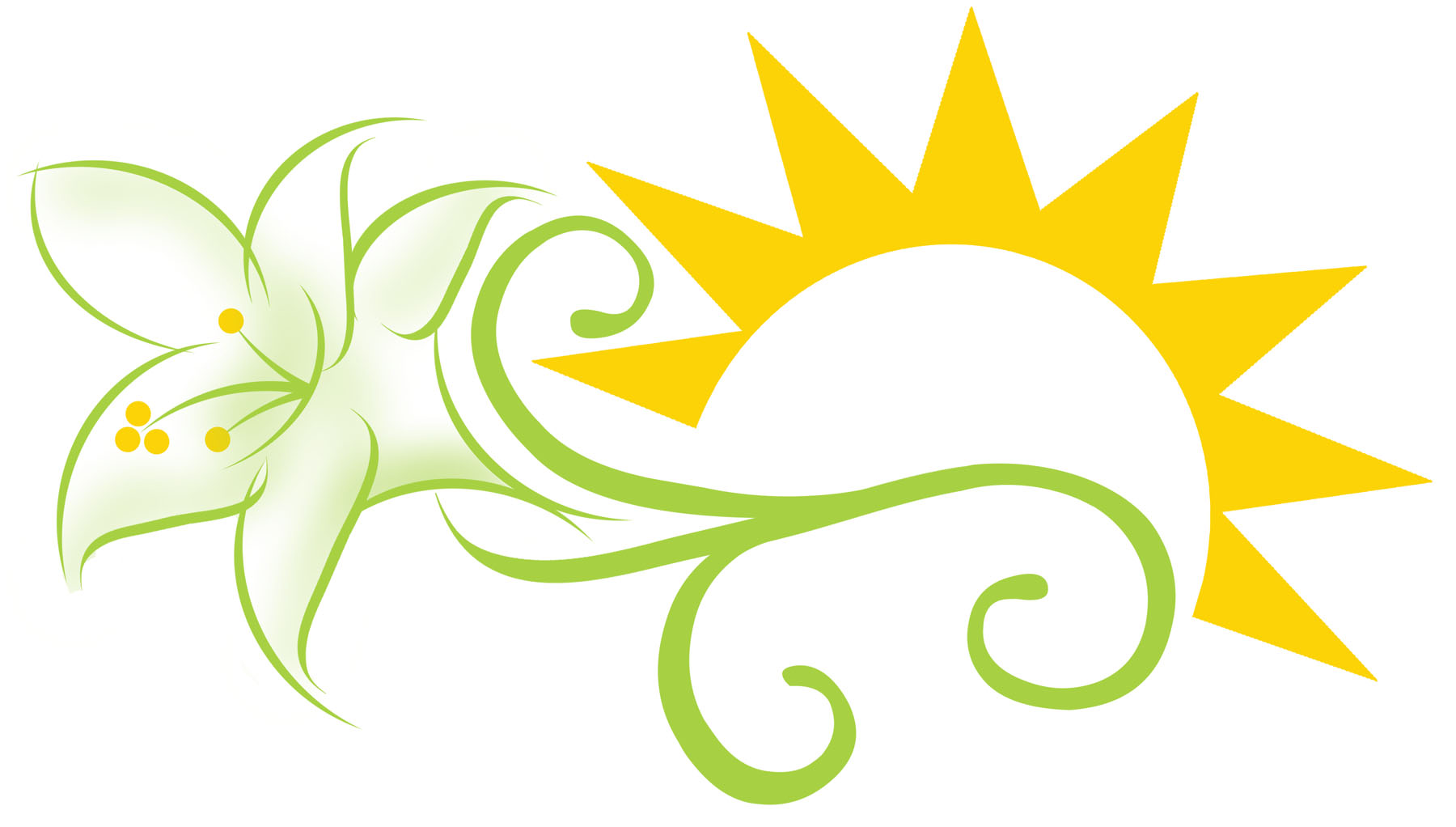 Easter Lily Border Clipart.