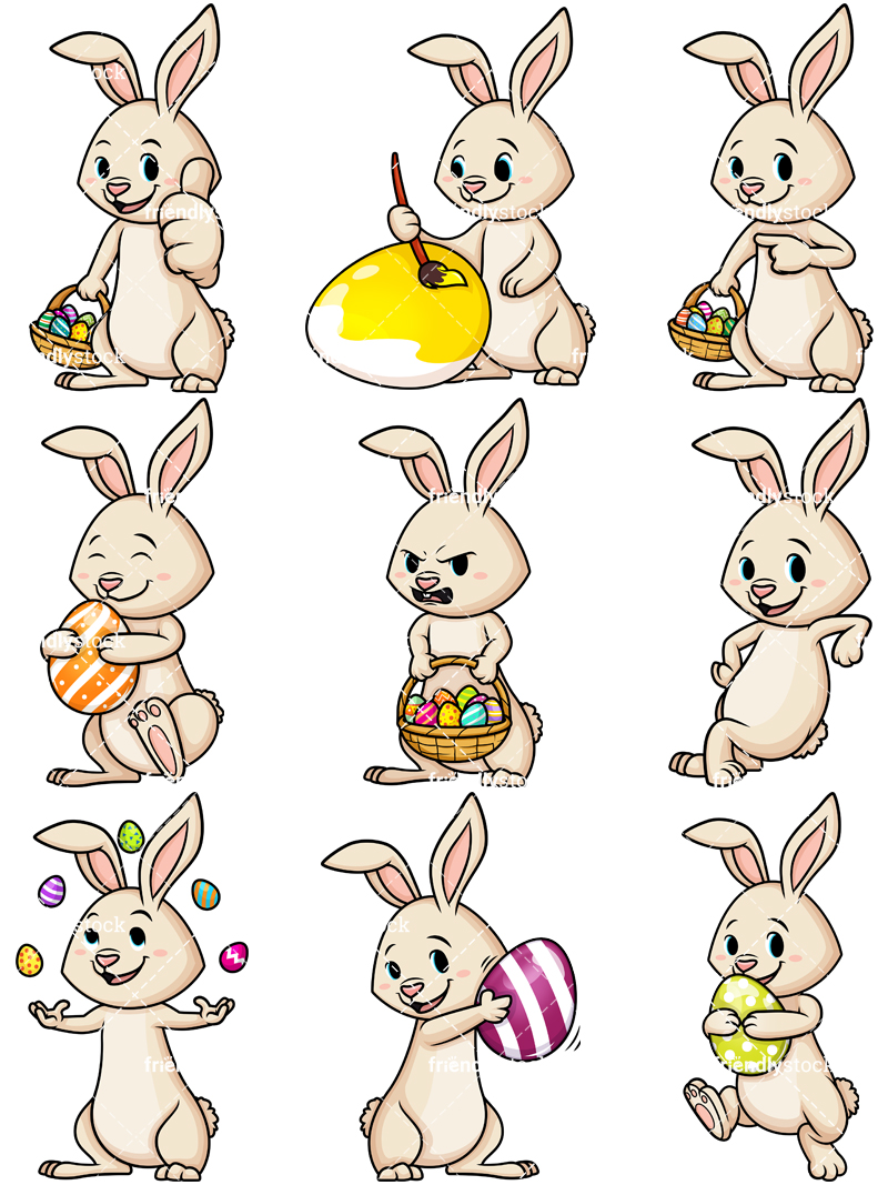 Cute Easter Bunny Collection.