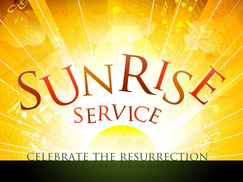 clipart easter sunrise service #7