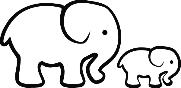 Elephant clipart easy pencil and in color elephant png.