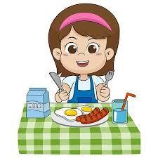 Image result for eat breakfast clipart.