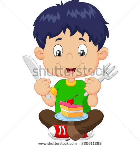 Eating Cake Stock Vectors, Images & Vector Art.