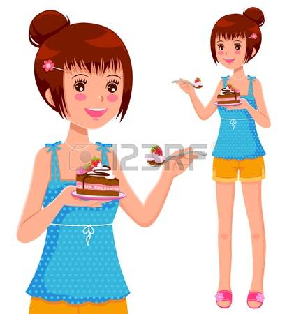 24,249 Eating Cake Stock Vector Illustration And Royalty Free.