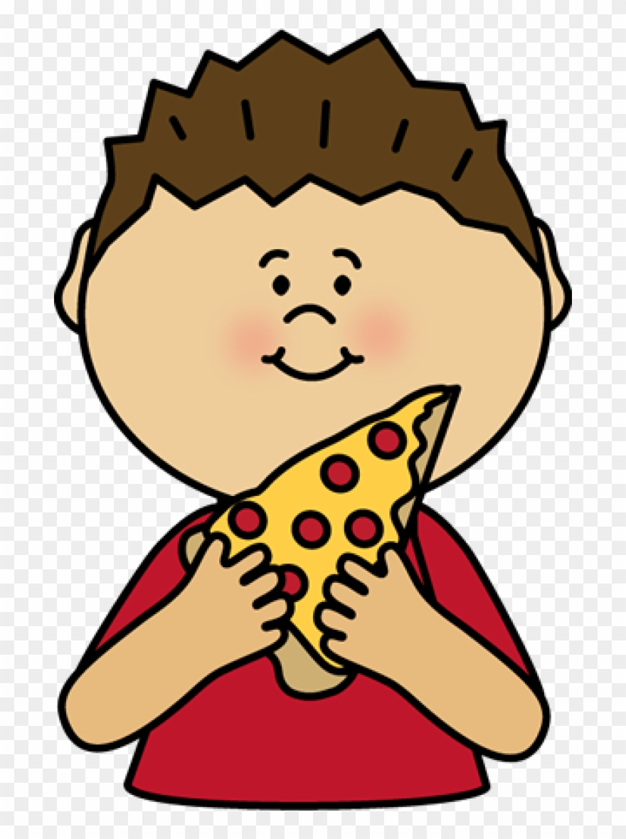 Permalink To Eating Pizza Clipart.
