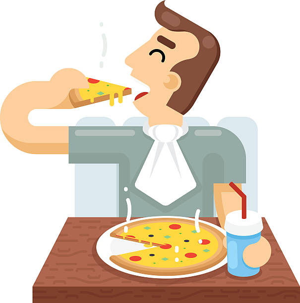 Eating pizza clipart » Clipart Station.