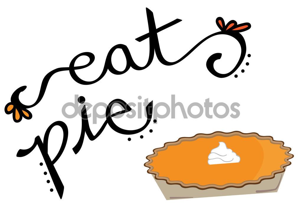 Eat Pumpkin Pie — Stock Vector © keeweegirl #124993872.