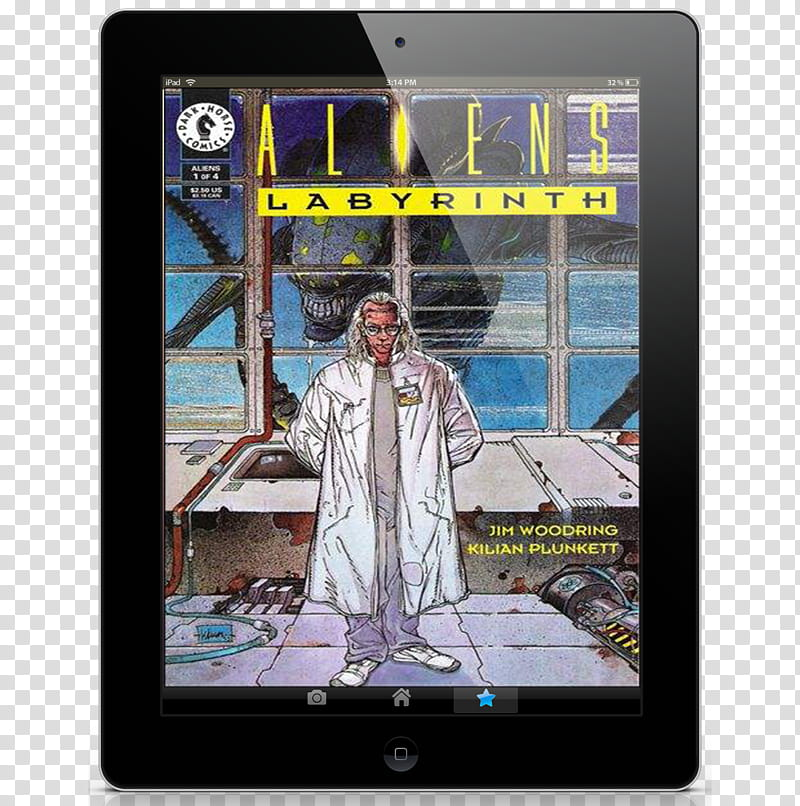 Ebook Pad Icon , Aliens Labyrinth Tome IPad Book transparent.
