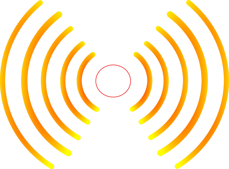 Echo sound waves clip art clipart free download.