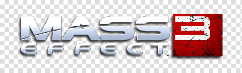 Mass Effect logo shadow, Mass Effect logo transparent.