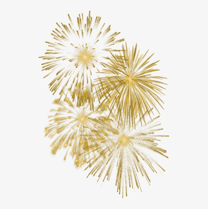 Fireworks Clipart Golden.