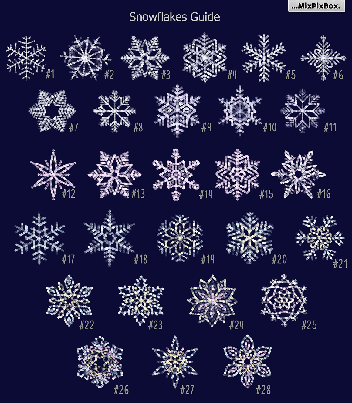 SNOWFLAKES Clipart + Backgrounds.