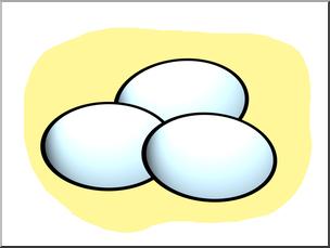 Clip Art: Basic Words: Eggs Color Unlabeled I abcteach.com.