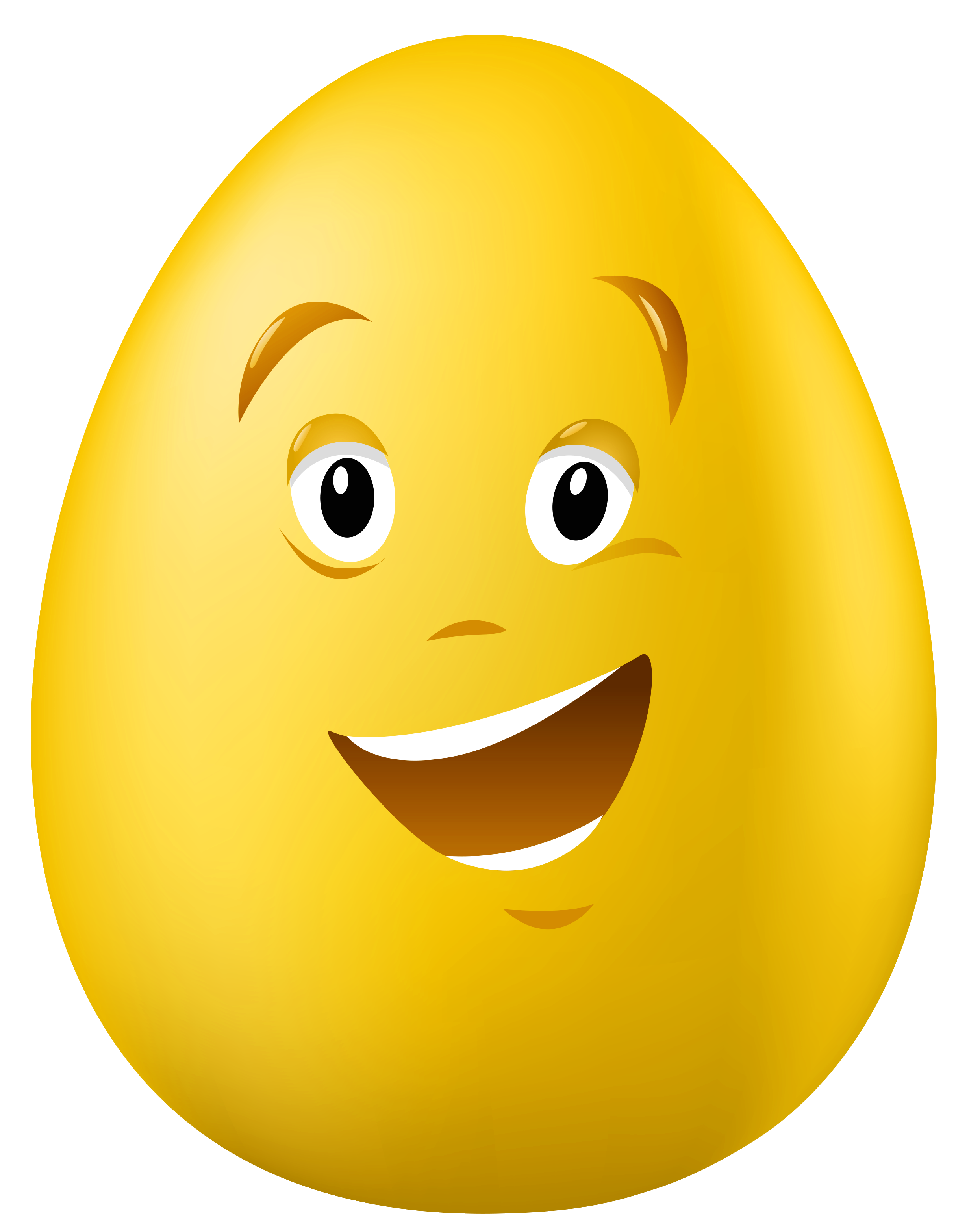 Transparent Easter Talking Yellow Egg PNG Clipart Picture.