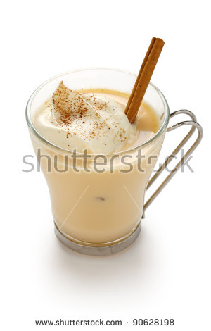 Egg Nog Stock Photos, Royalty.