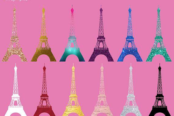 Eiffel Tower Silhouette Clipart.