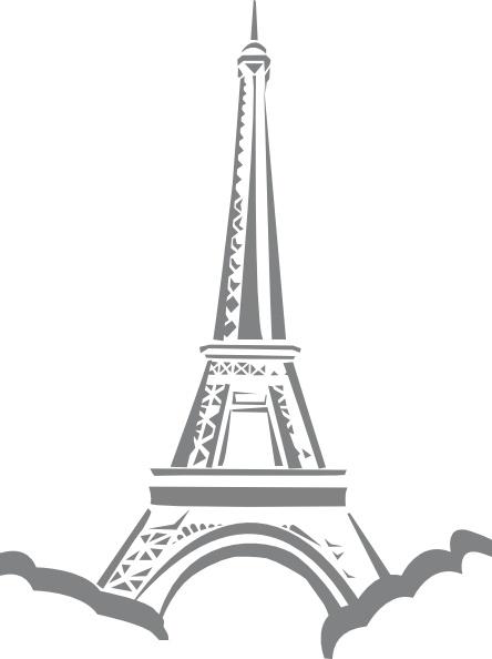 Eiffel Tower Paris clip art Free vector in Open office.