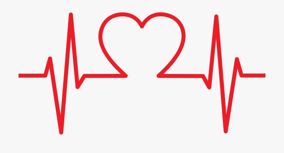 Ekg Clipart Heart Shaped.