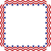 Mayor Icon; Stars And Stripes Border Or Frame.