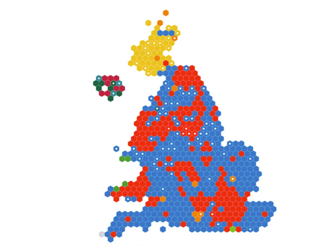 UK general election results: Constituency votes and.