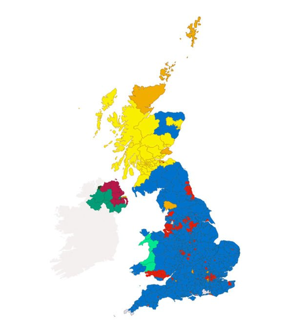Election results map: How did YOUR constituency vote? Who is.