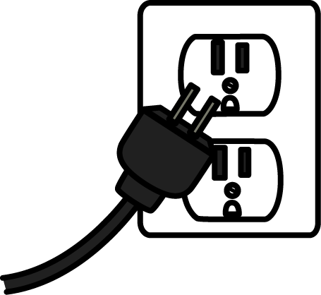 Electrical plug clip art from MyCuteGraphics.