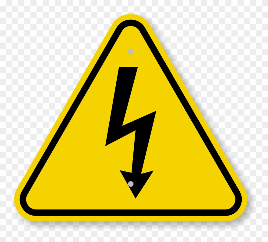 Iso Electrical Shock Electrocution Warning Sign Symbol.