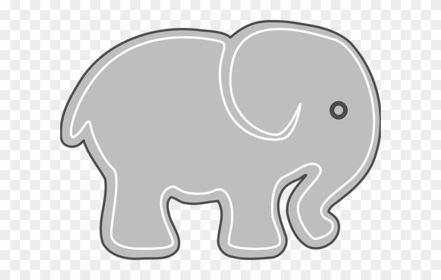 Mammal Clipart Grey Elephant.