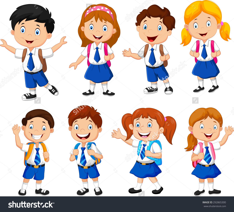 School Age Kids Clipart.