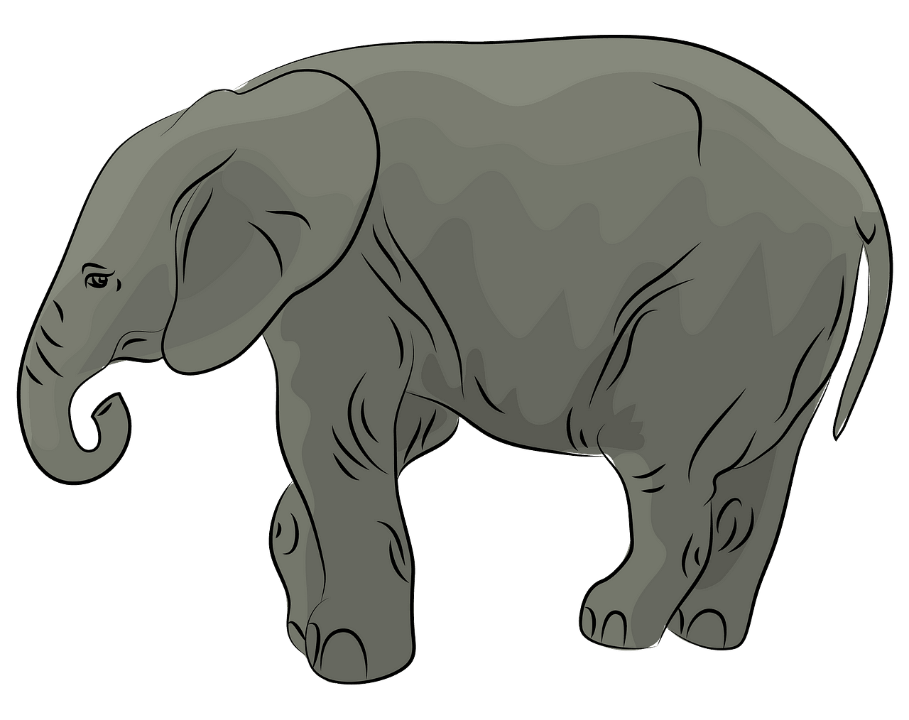 African Elephant cub clipart. Free download..