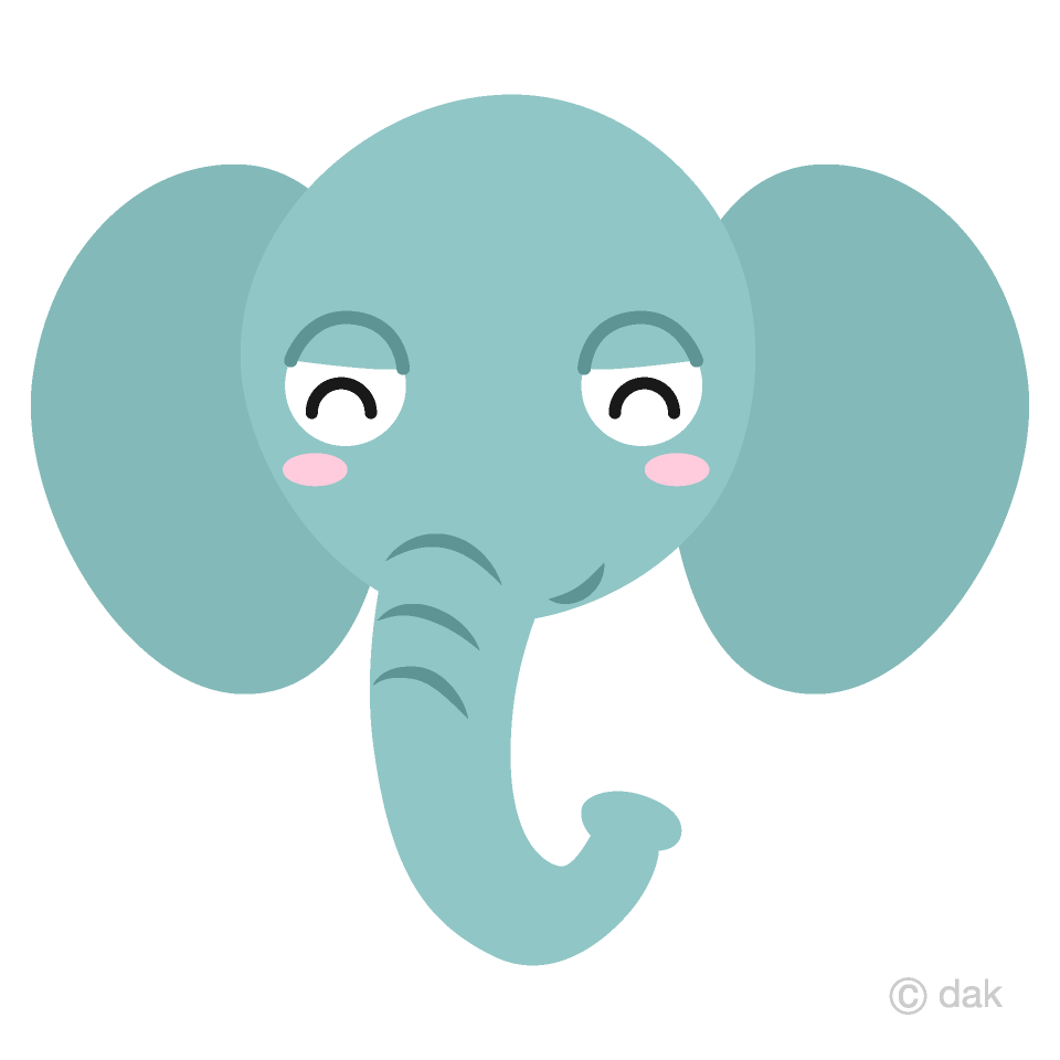 Smile Elephant Face Clipart Free Picture|Illustoon.