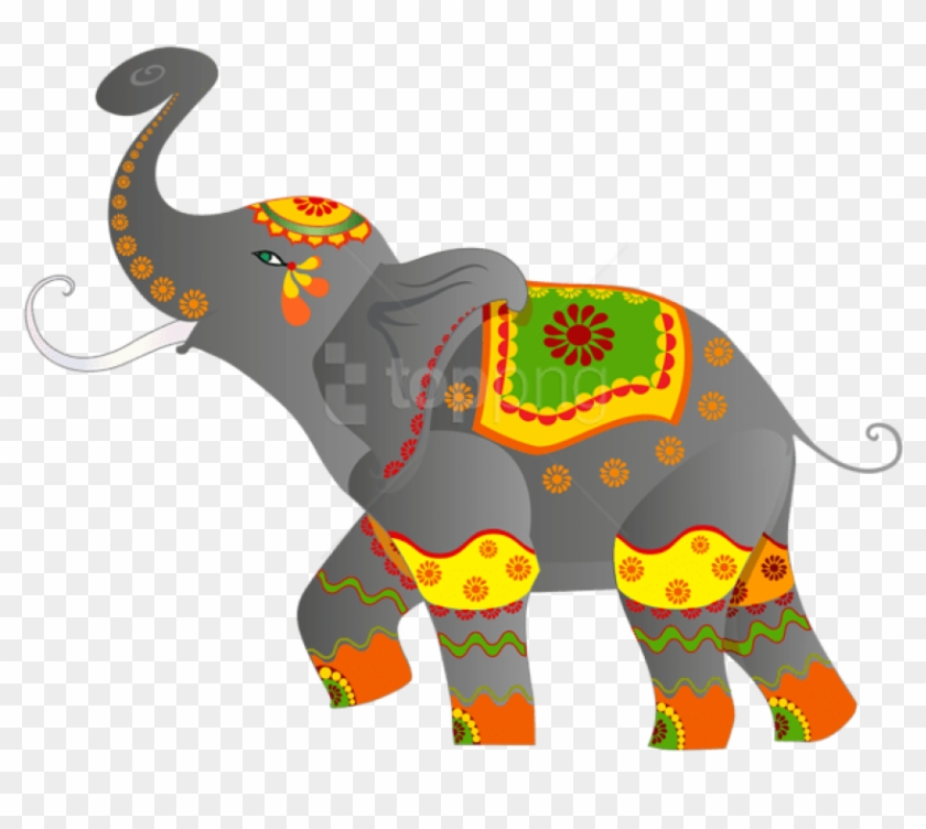 Free Png Download Decorative Indian Elephant Clipart.