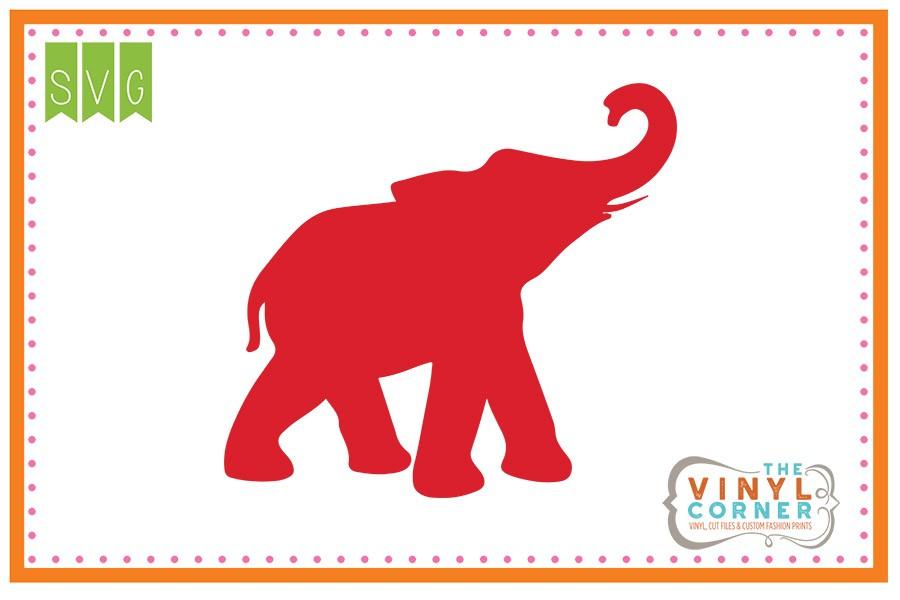 Applique Corner Elephant Trunk Up SVG Clipart Design.