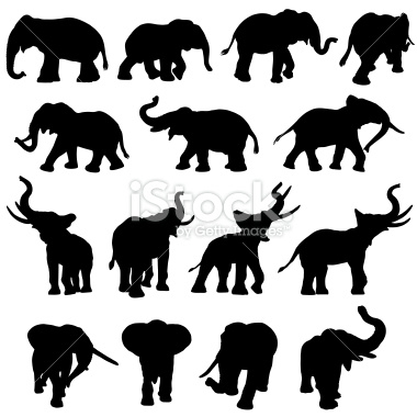 Elephant Outline Trunk Up Pictures to Pin on Pinterest.
