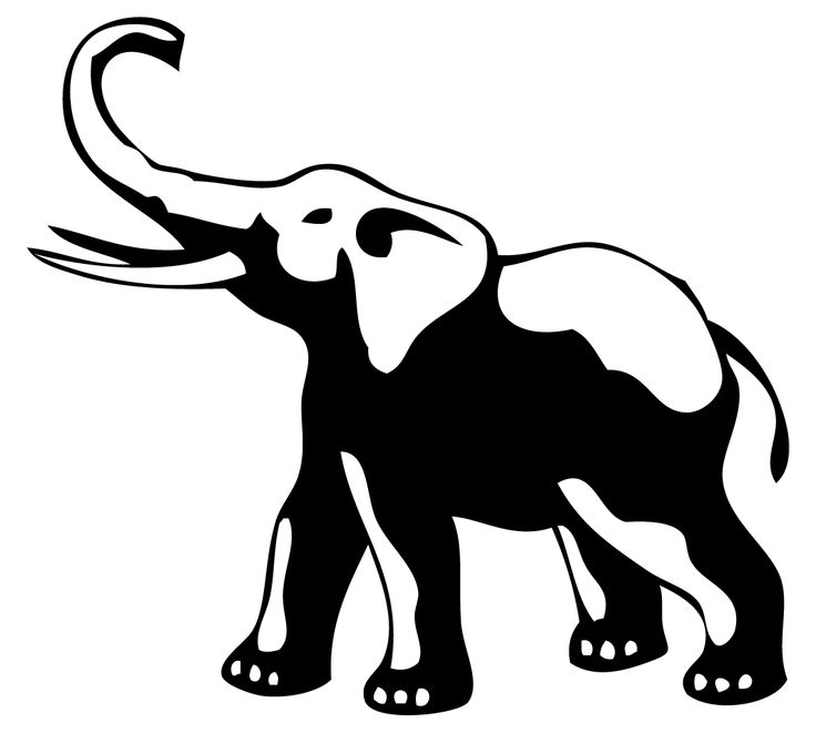 Elephant Clipart Trunk Up.