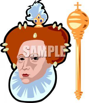 Queen Elizabeth 1 Clipart.