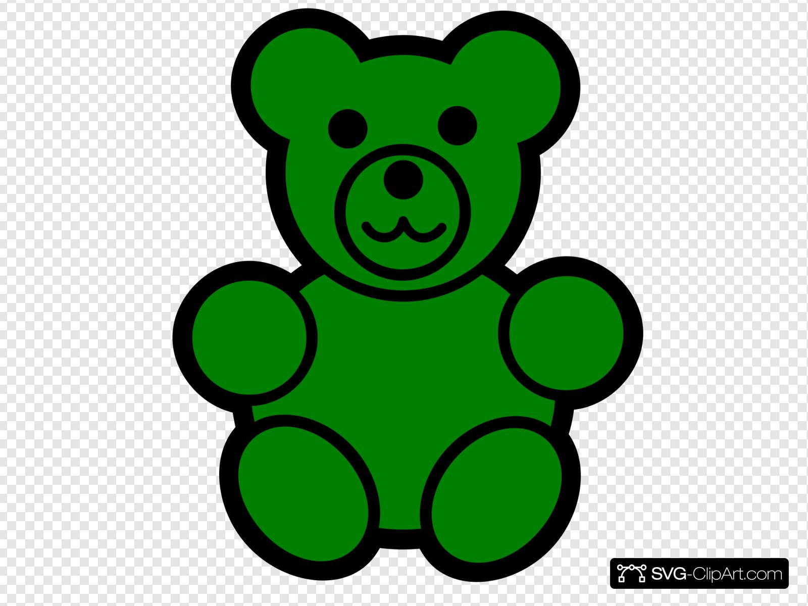 Green Bear Clip art, Icon and SVG.