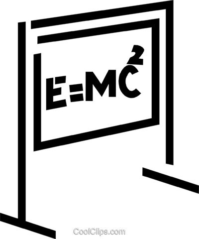 E=Mc2 Royalty Free Vector Clip Art illustration.