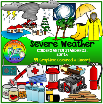 Severe Weather and Emergency Preparedness Clipart.