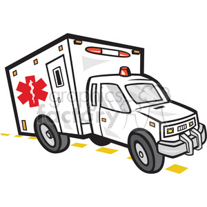 ambulance emergency vehicle clipart. Royalty.
