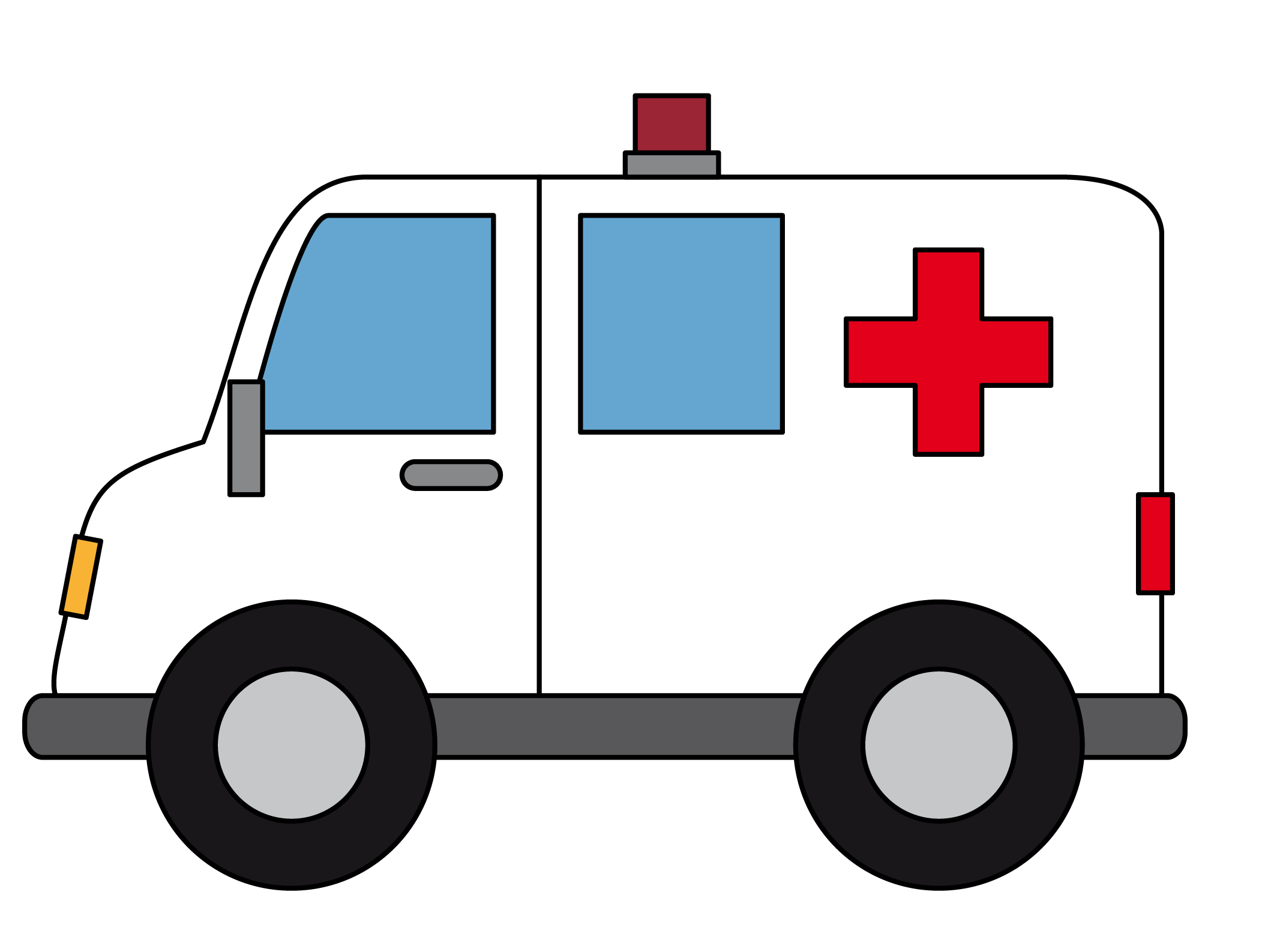 Ambulance Emergency vehicle Cartoon Drawing Clip art.
