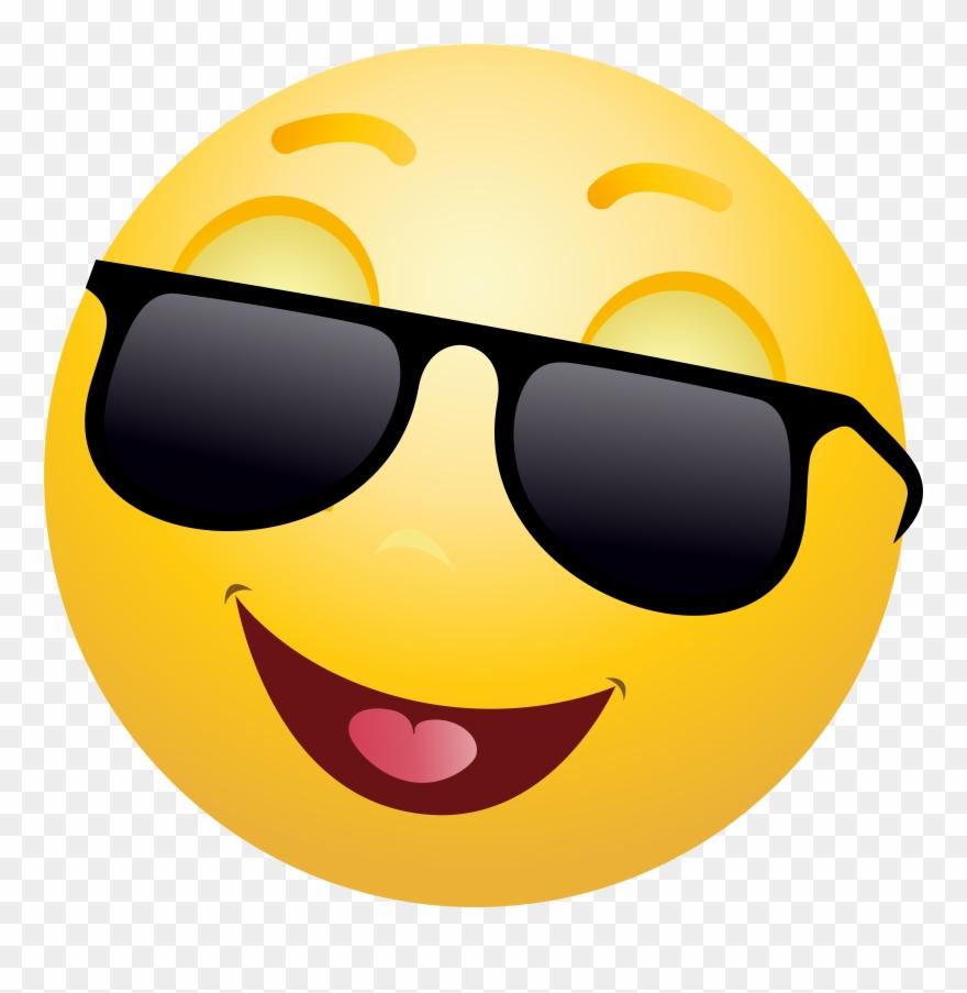 Emoticon Emoji With Sunglasses Clipart Info Clip Art.