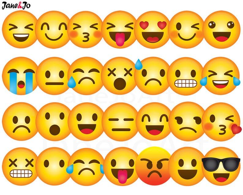40 Emoji Clipart, Emoji Clip art, Smiley Face Emoji Clipart, feelings  clipart, Face Emoticons, clipart, Emoji clip art images,Emoji Face.