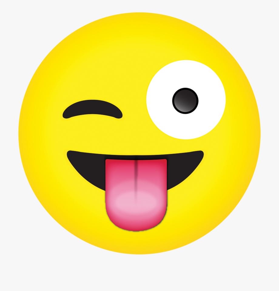 Clip Art Crazy Emoji Faces.
